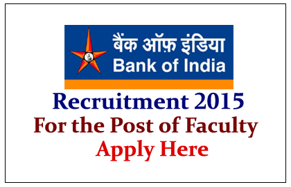 Bank of India Recruitment 2015