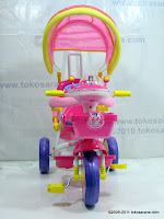2 GoldBaby Pororo Winch Baby Tricycle in Pink