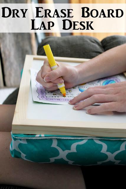 dry erase board lap desk DIY