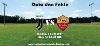 Data dan Fakta Liga Fantasia Juventus vs Roma Fantasi Manager Indonesia