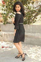 Telugu Actress Pavani Latest Pos in Black Short Dress at Smile Pictures Production No 1 Movie Opening  0208.JPG