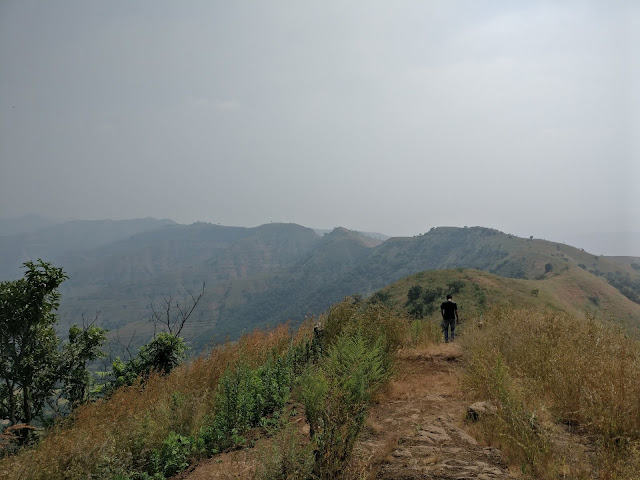 scenic trekking trail at the top of pabe ghat