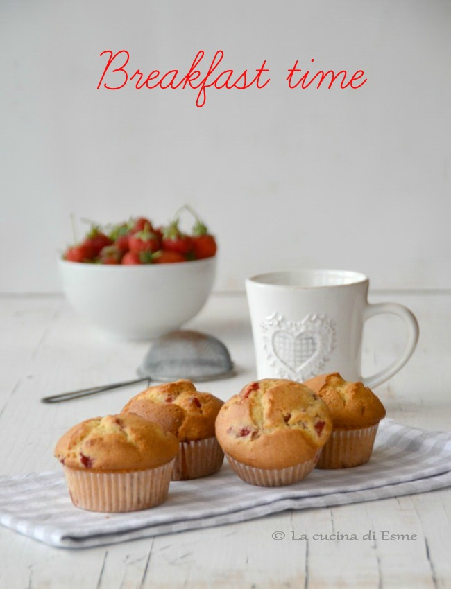 La cucina di esme muffin fragole e cioccolato bianco - La cucina di esme ...