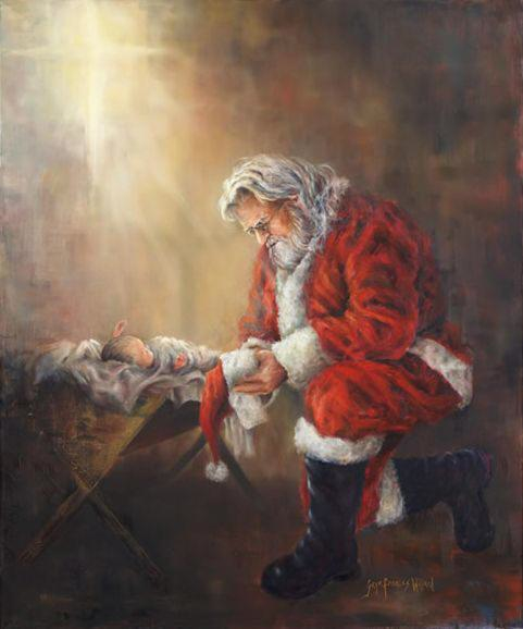 Image result for santa claus and baby jesus