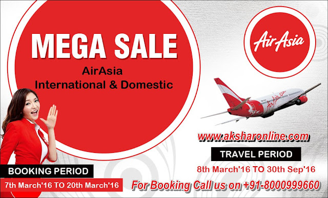 AirAsia Airlines Mega Sale Domestic and International....Book Now..., Air Ticket Agent in Ahmedabad, Domestic and International Air Ticket Agent, Railway Ticket Agent in Ahmedabad, Hotel Booking in Ahmedabad
