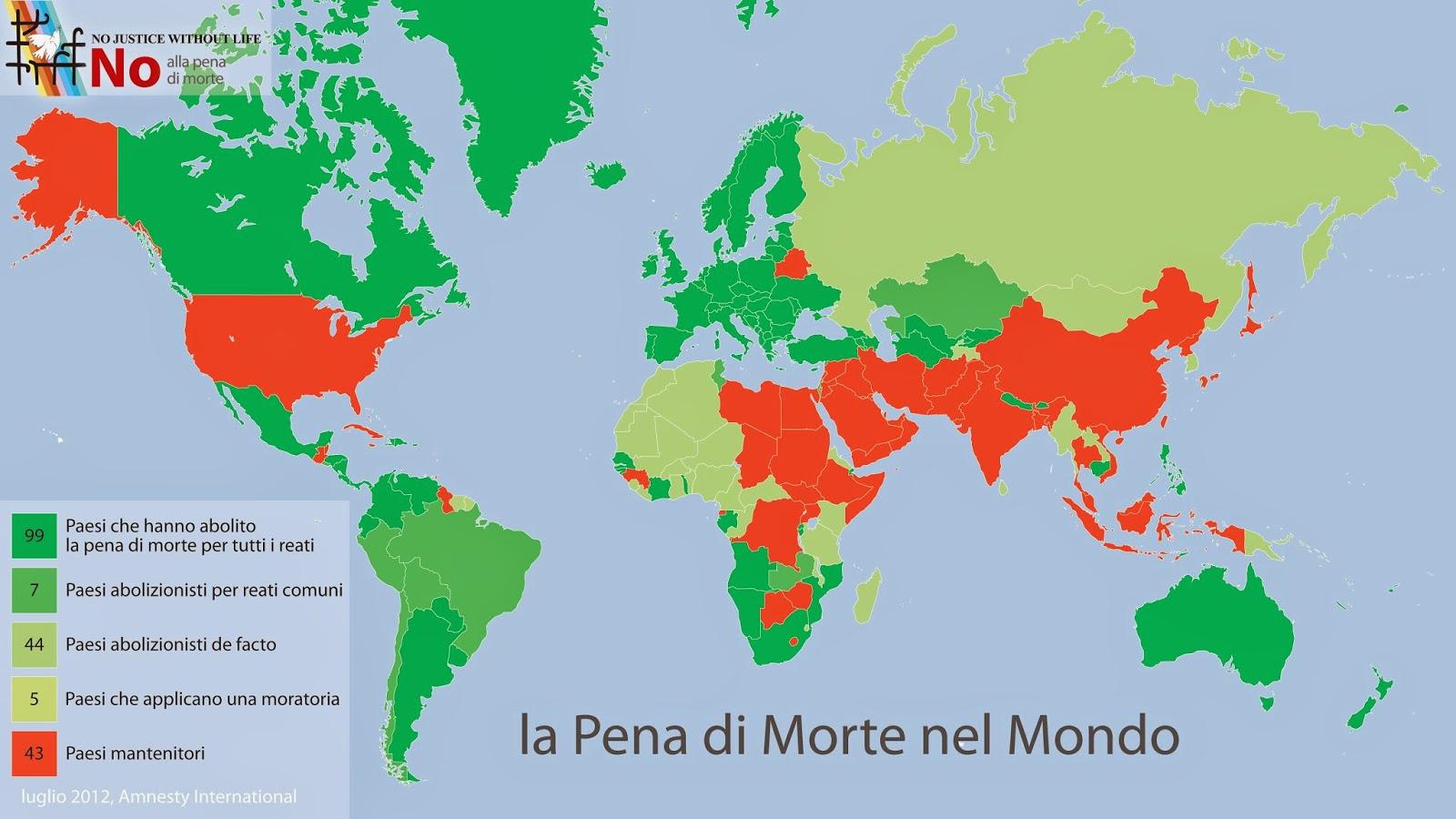 Risultati immagini per pena di morte nel mondo mappa