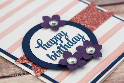 Pretty Sparkly Birthday Card Made Using Stampin' Up! UK Supplies