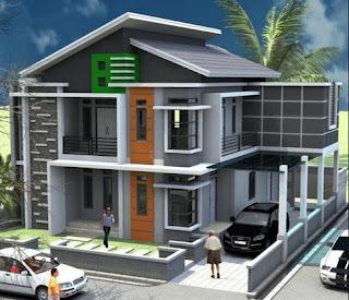 Desain Terbaik Rumah Minimalis 2 Laintai Sederhana