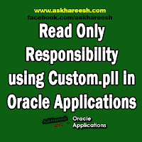 Read Only Responsibility using Custom.pll in Oracle Applications, www.askhareesh.com