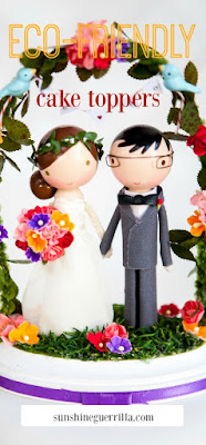 eco-friendly wedding cake topper