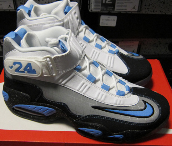 free shipping ef171 cd6bf Nike Air Griffey Max 1 Premium QS Metallic Silver University Blue Black-White  Now Available