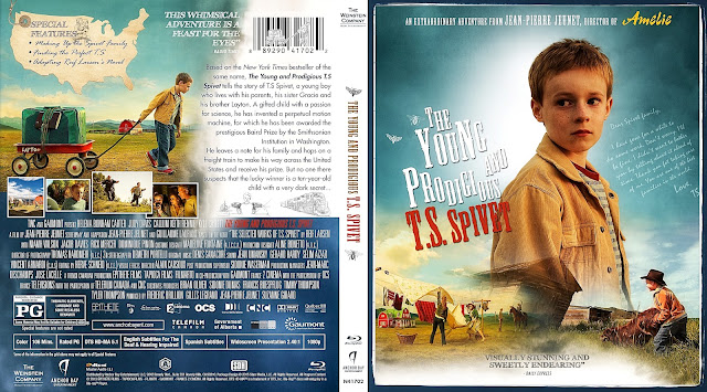 The Young and Prodigious T.S. Spivet Bluray Cover