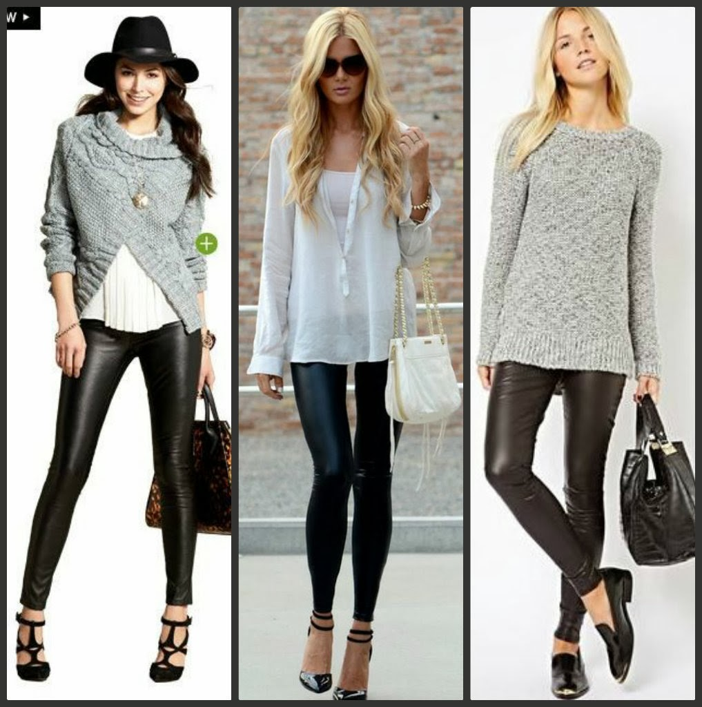 how to wear leather leggings pinterest