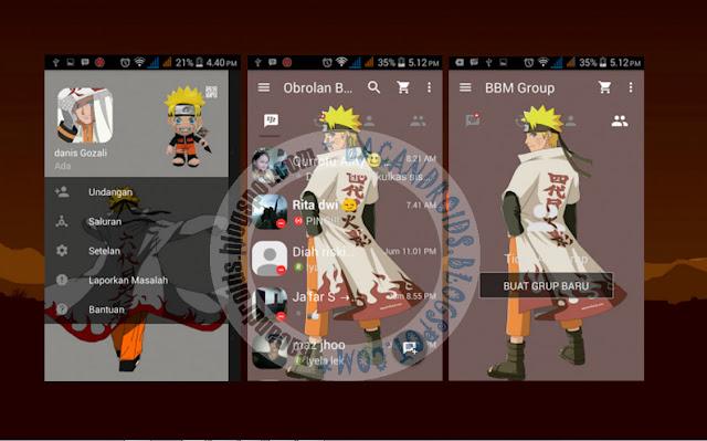 download BBM Mod Naruto apk