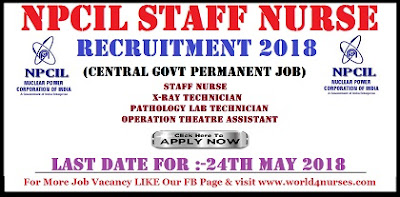 NPCIL Recruitment 2018 Latest Staff Nurse Jobs in Maharashtra