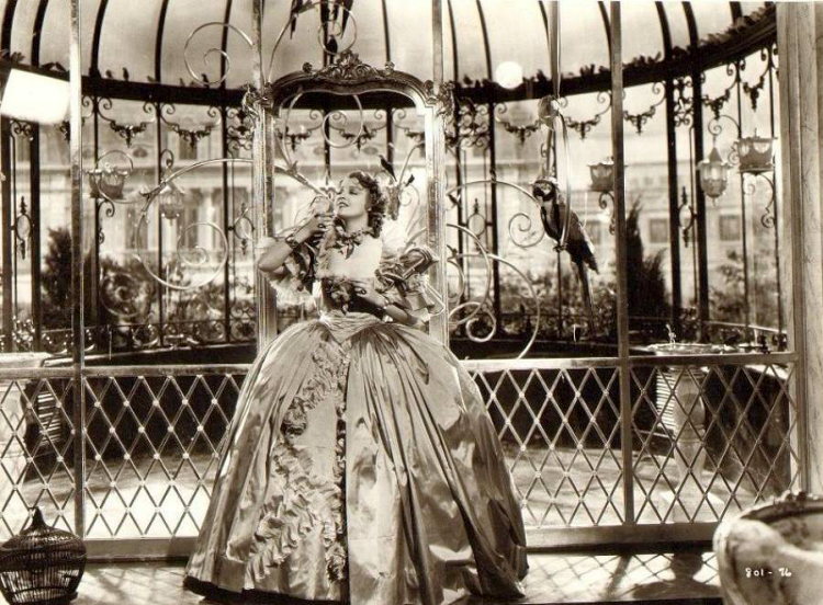 3afc47ffc In a gilded cage - Jeanette MacDonald on the set of Naughty Marietta, 1935