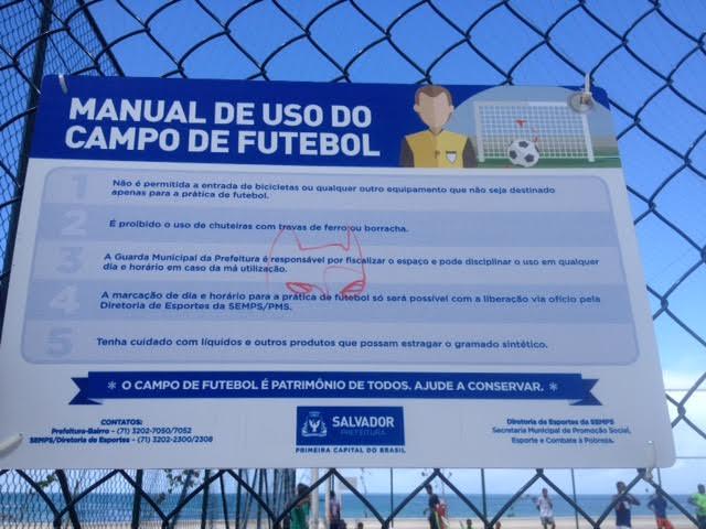 Definidas regras para uso do Campo de Futebol da Paciência