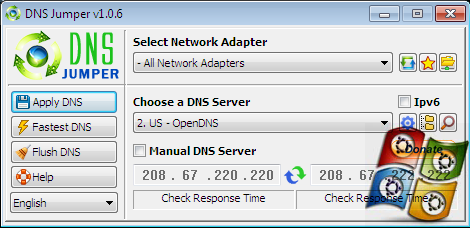 Download DNS Jumper V.1.0.6 Terbaru