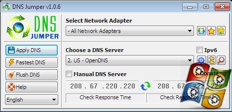 Download DNS Jumper V.1.0.6 Terbaru