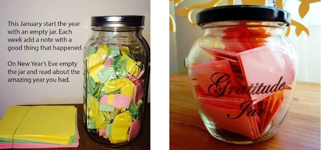 Why not start a Gratitude Jar? It's a wonderful way to remind yourself of how blessed you are.