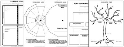 Classroom Freebies: Vocabulary Graphic Organizers
