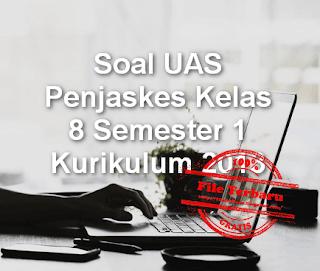 Soal UAS Penjaskes Kelas 8 Semester 1 Kurikulum 2013