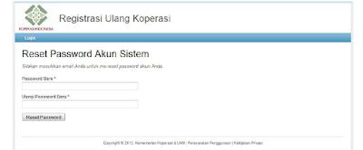 Reset Pasword Akun Sistem