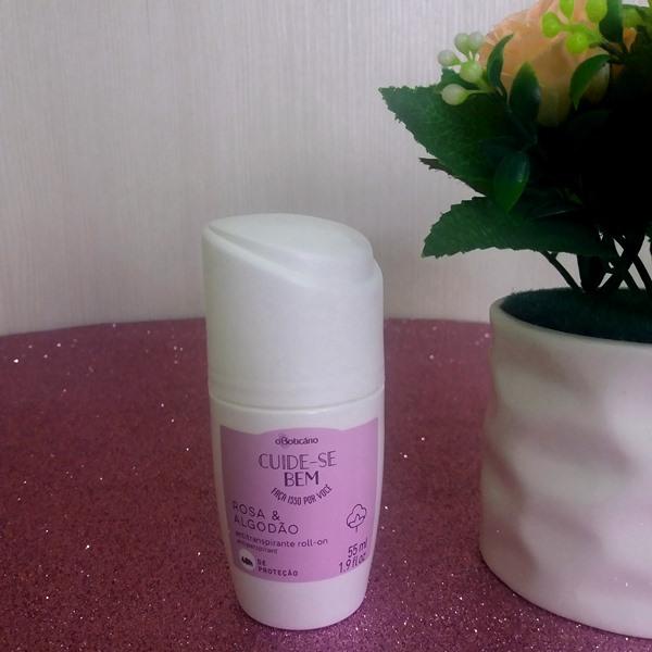 Desodorante antitranspirante roll-on oBoticário : Cuide-se bem Rosa & Algodão