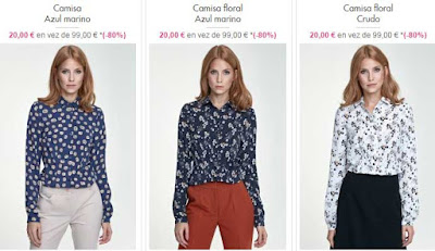 camisas mujer por 20 euros