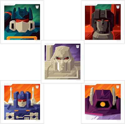 Transformers Decepticons Mini Print Set by Tom Whalen x Acidfree Gallery