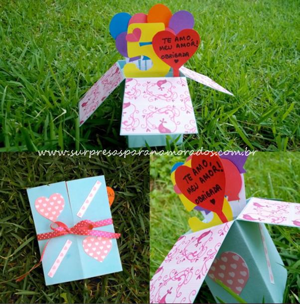 cartão caixinha