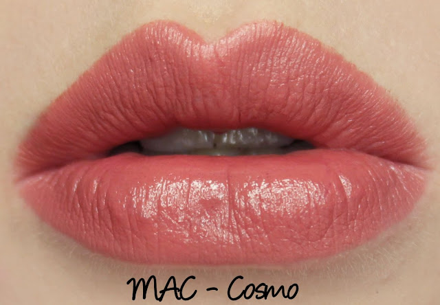 MAC Cosmo lipstick swatches & review