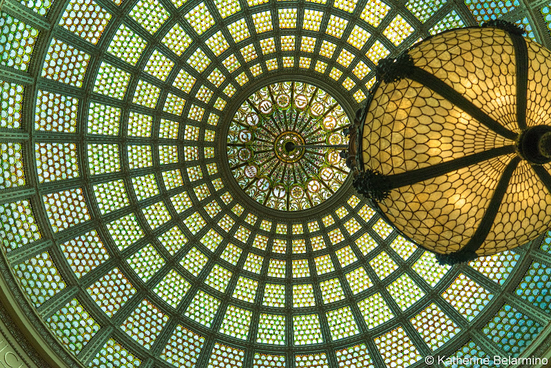 Tiffany Dome Chicago Cultural Center Girls' Weekend in Chicago