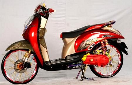 Modifikasi Honda scoopy terbaru 2018