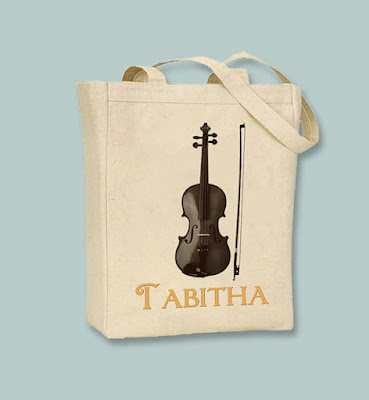 Violin Canvas Tote