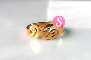 cincin nama lapis emas polos vie