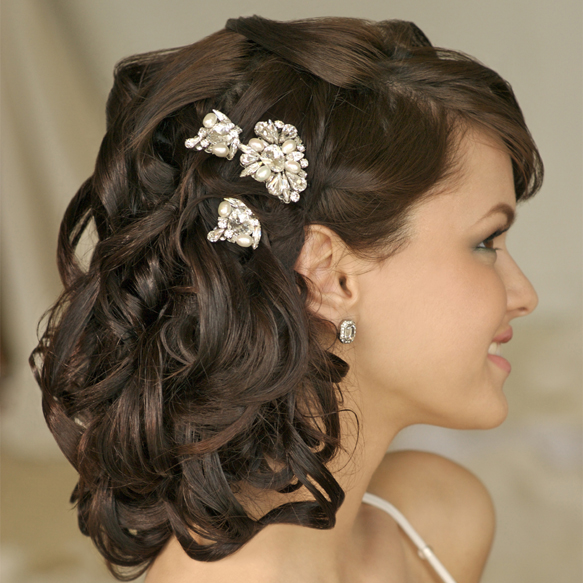 Phenomenal Bridal Hairstyles For Short Hair Fashion In Wedding Hairstyles For Women Draintrainus
