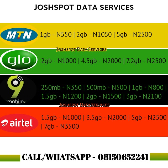 Joshspot Data Services - Buy Data Online