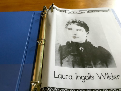 Laura Ingalls Wilder notebook