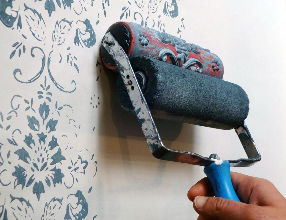 Rullo magico per decorare shabby chic interiors - Tinteggiare casa tecniche ...