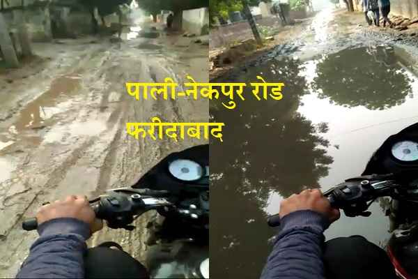 faridabad-pali-village-nekpur-road-condition-very-bad-mla-not-worked