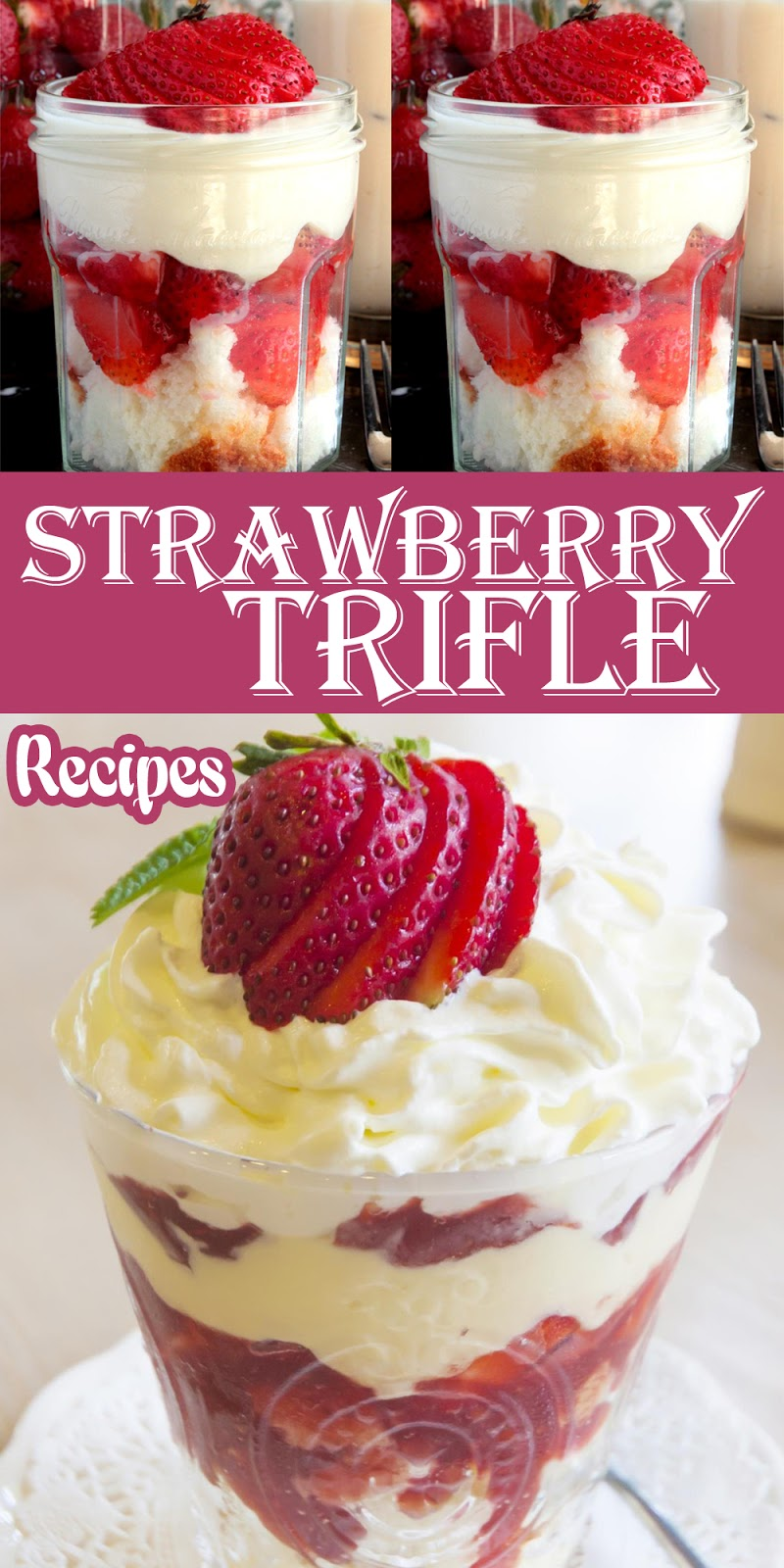 STRAWBERY TRIFLE