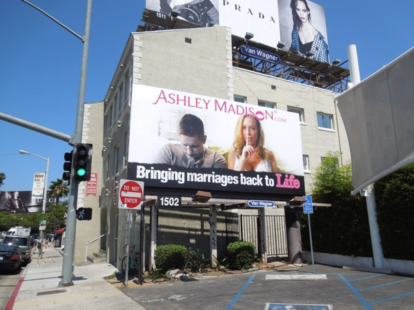 Ashley Madison Bringing marriages back to life billboard