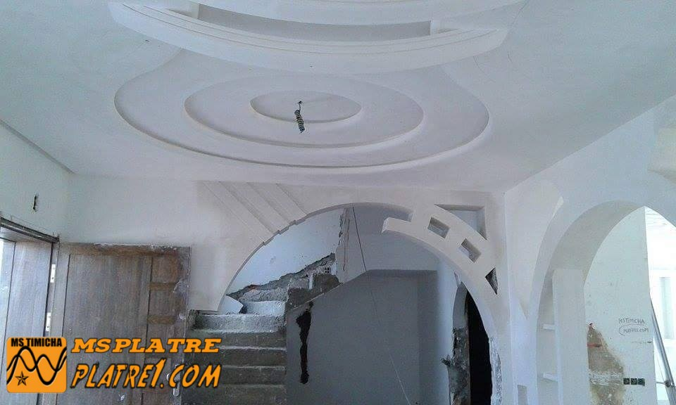 Arc et faux plafond en pl tre ms timicha d coration for Decoration plafond en platre