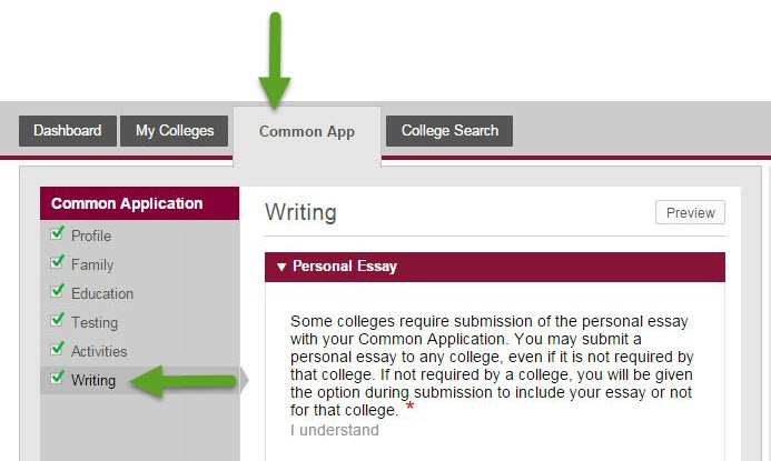 can change my essay common app
