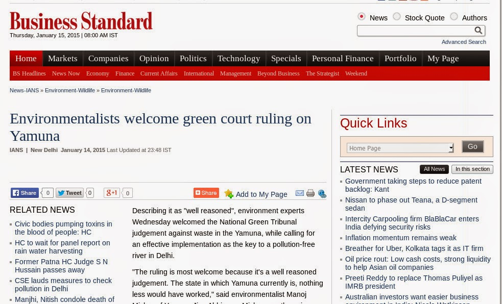 http://www.business-standard.com/article/news-ians/environmentalists-welcome-green-court-ruling-on-yamuna-115011401512_1.html