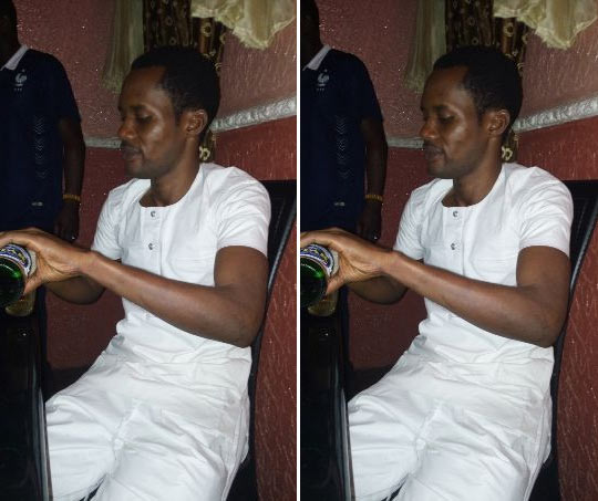 """Seun Egbegbe drinks beer, says """"I paid N1m for bail, I'm not in prison"""""""