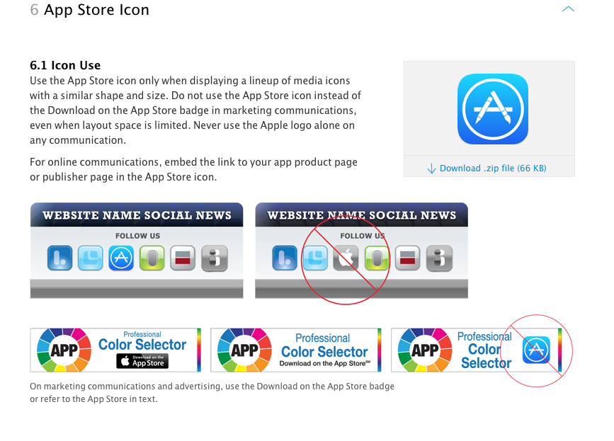 Tutorials iOS: iOS App Store Marketing Guidelines - Guide to share