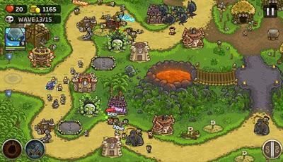 لعبة Kingdom Rush Frontiers مهكرة للأندرويد، لعبة Kingdom Rush Frontiers كاملة للأندرويد