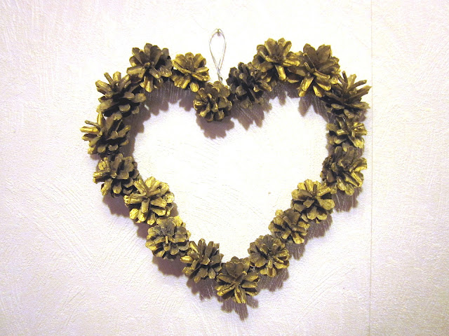 Heart Cone Wreath